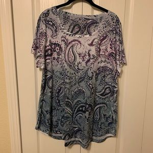 Fun Paisley Top Sz 2x by Style & Co